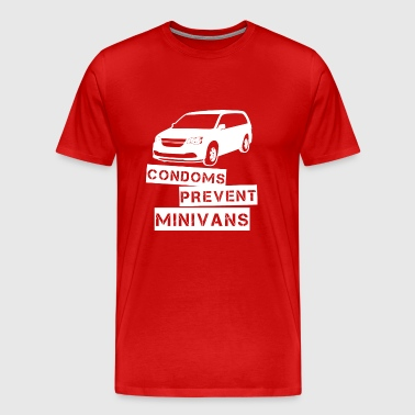 Funny! Condoms Prevent Minivans - Men's Premium T-Shirt