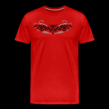 Great fire dragon with wings. - Men's Premium T-Shirt