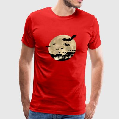Fullmoon with Bats - Men's Premium T-Shirt