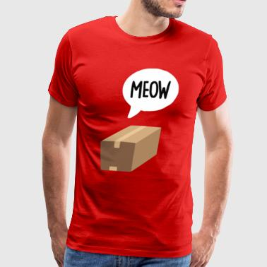 Meow In The Box Funny Cat Animal - Men's Premium T-Shirt