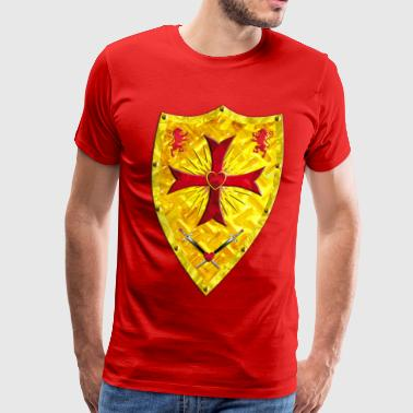 Knights Templars Crusaders Cross weapon shield - Men's Premium T-Shirt