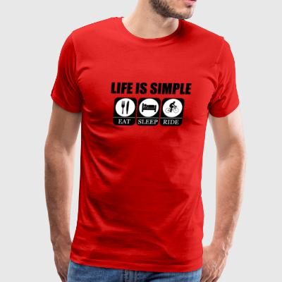 Life is Simple When Cycling Funny T-Shirt - Men's Premium T-Shirt