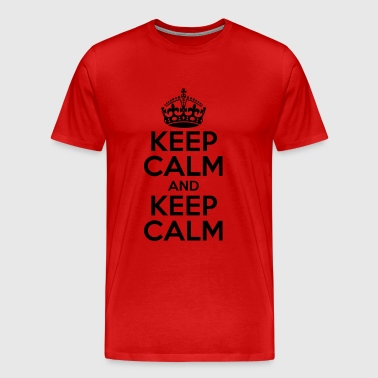 KEEP CALM AND KEEP CALM - Men's Premium T-Shirt