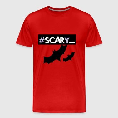 #SCARY bats halloween design - Men's Premium T-Shirt