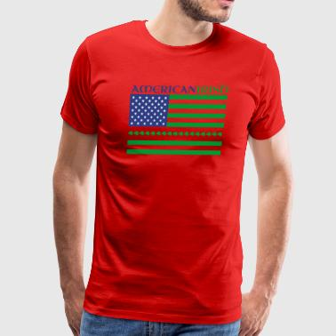Irish american Flag St Patricks day - Men's Premium T-Shirt
