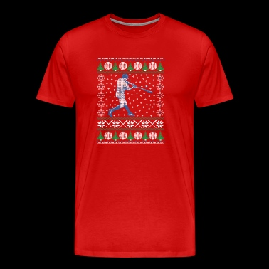 Baseball Ugly Christmas Sweater Funny Sports T-Shi - Men's Premium T-Shirt