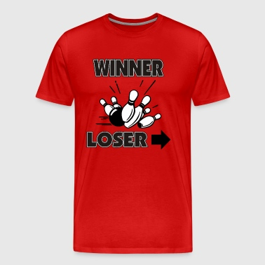 Bowling Winner Loser - Men's Premium T-Shirt
