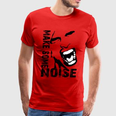 make some noise face / Noise - Men's Premium T-Shirt
