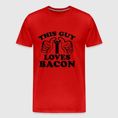 This Guy Loves Bacon - Men's Premium T-Shirt