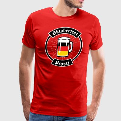 Oktoberfest German flag Beer Prost! T Shirt - Men's Premium T-Shirt