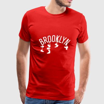 Brooklyn Nets The Corner - Men's Premium T-Shirt