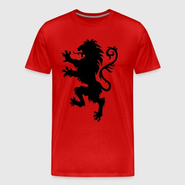 Lion wild heraldic animal King Luxury 1c - Men's Premium T-Shirt