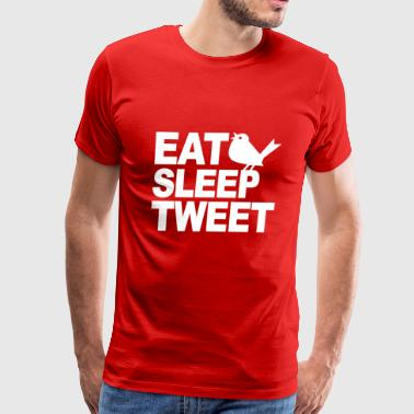 Eat Sleep Tweet - Men's Premium T-Shirt