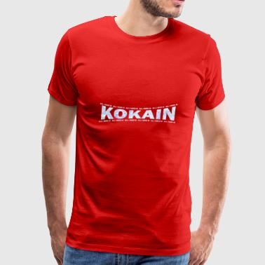 LOVE TECHNO GESCHENK goa pbm KOKAIN SPEEDCORE - Men's Premium T-Shirt