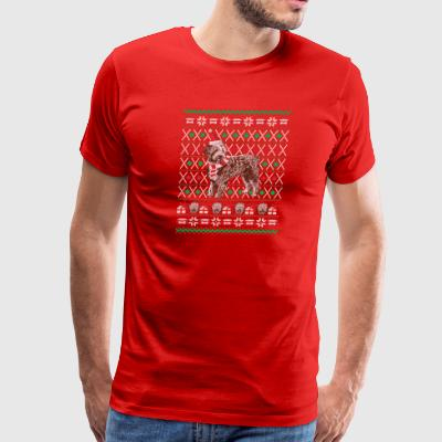 Labradoodle Ugly Christmas Sweater Holiday T-Shirt - Men's Premium T-Shirt