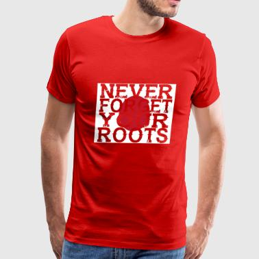 never forget roots home Japan - Men's Premium T-Shirt