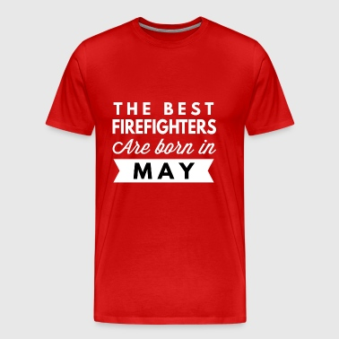 The best Firefighters are born in May - Men's Premium T-Shirt