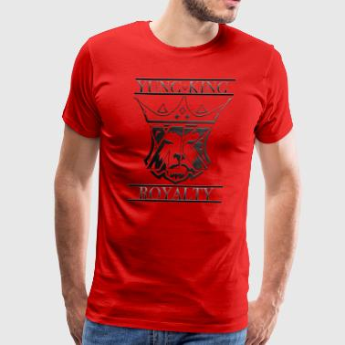 YUNG KING ROYALTY CREST - Men's Premium T-Shirt