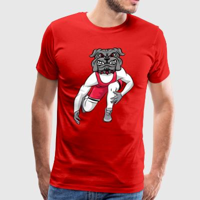 custom bulldog mascot wm-wrestle - Men's Premium T-Shirt