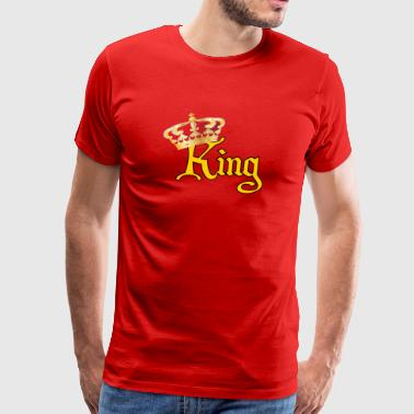 He is Your King- Gold &Red - Men's Premium T-Shirt
