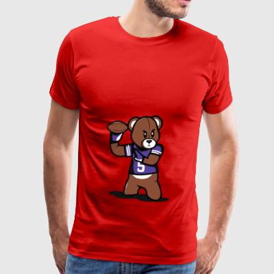 Teddy Football - Men's Premium T-Shirt