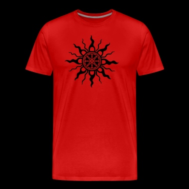 Sun with sun wheel, midsummer - Men's Premium T-Shirt