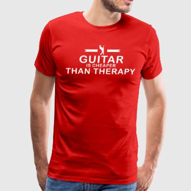 Guitar is cheaper than therapy - Men's Premium T-Shirt