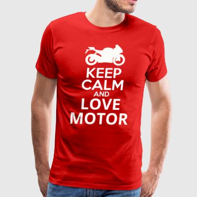 Keep Calm And Love Motor - Men's Premium T-Shirt