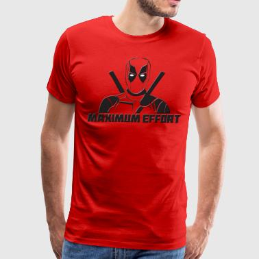 Deadpool Maximum Effort - Men's Premium T-Shirt
