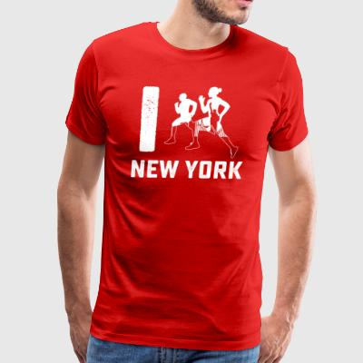 I run New York tee shirt - Men's Premium T-Shirt