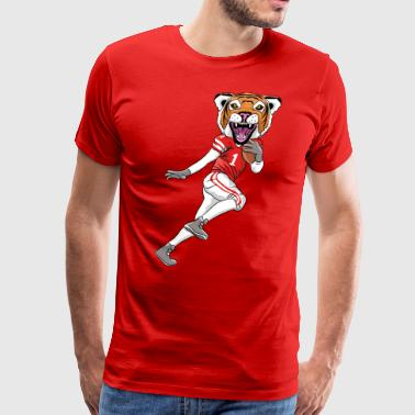 Tiger Mascot Football - Men's Premium T-Shirt