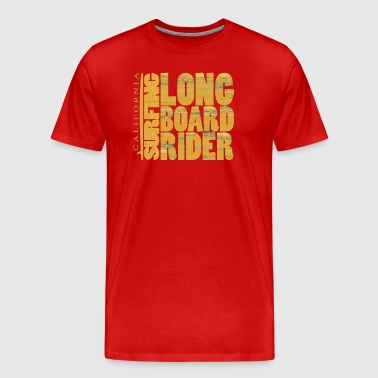 California Surfing Longboard Rider - Men's Premium T-Shirt