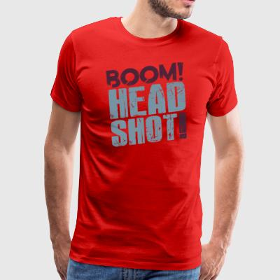 Female Boom Headshot - Men's Premium T-Shirt