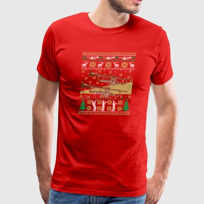 Trumpet Ugly Christmas Sweater Holiday Band T-Shir - Men's Premium T-Shirt