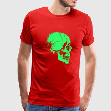 Skeleton Head Green - Men's Premium T-Shirt