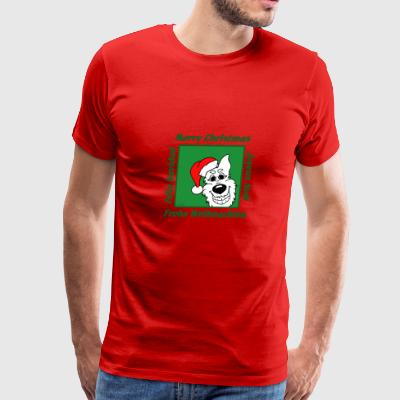 White Shepherd Christmas - Men's Premium T-Shirt