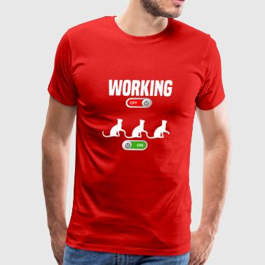 Working OFF cute cat ON gift - Men's Premium T-Shirt