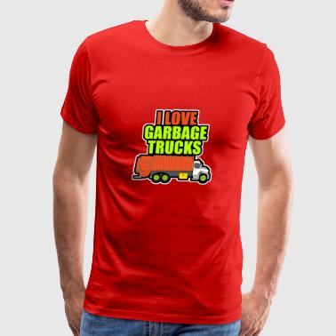 I love garbage trucks - Men's Premium T-Shirt