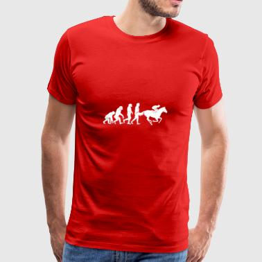 Funny Evolution Equestrian Horseback Riding - Men's Premium T-Shirt