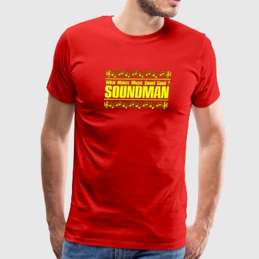 good soundman yellow - Men's Premium T-Shirt