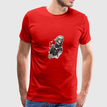 Skeleton Ripping through - Men's Premium T-Shirt