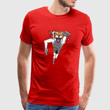 Custom Tiger mascot - swimming - Men's Premium T-Shirt