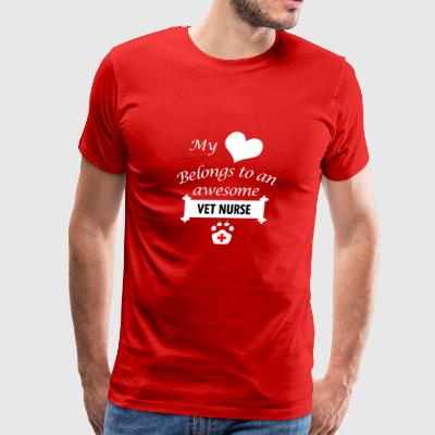 Vet Nurse Job Love Gift-My Heart-Birthday Present - Men's Premium T-Shirt