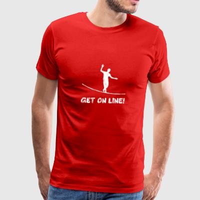 GET ON LINE Slackline Gift - Men's Premium T-Shirt
