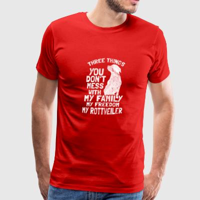Don't mess with my family, freedom and rottweiler - Men's Premium T-Shirt
