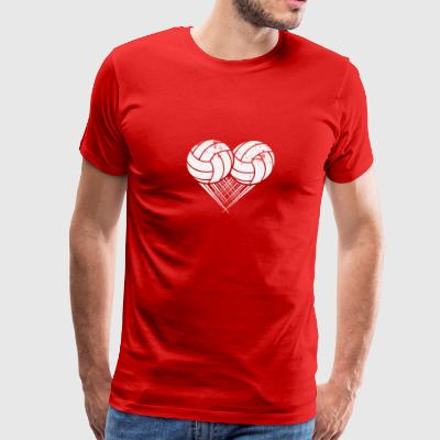 I love Volleyball My Heart goes Volleyball - Men's Premium T-Shirt