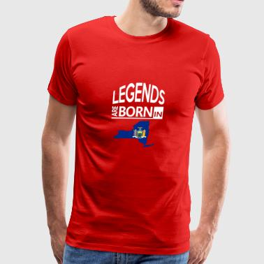 New York State Born Legends Proud Gift/Present - Men's Premium T-Shirt