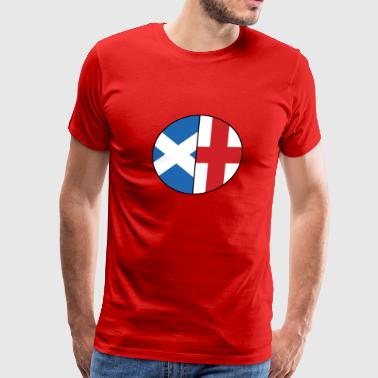 Scottish English Flags Dual Heritage Classic - Men's Premium T-Shirt