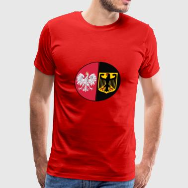 Poland Germany National Citizen Crest - Men's Premium T-Shirt