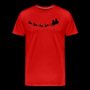 Merry Christmas. Reindeer with sleigh - Men's Premium T-Shirt